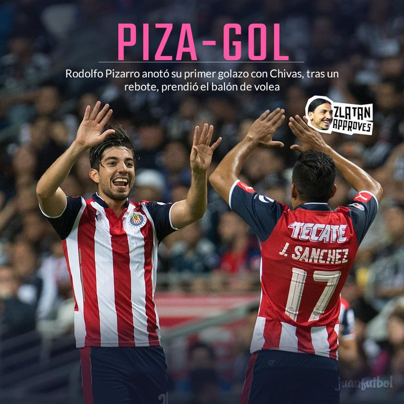 Pizarro anotó su primer gol con Chivas