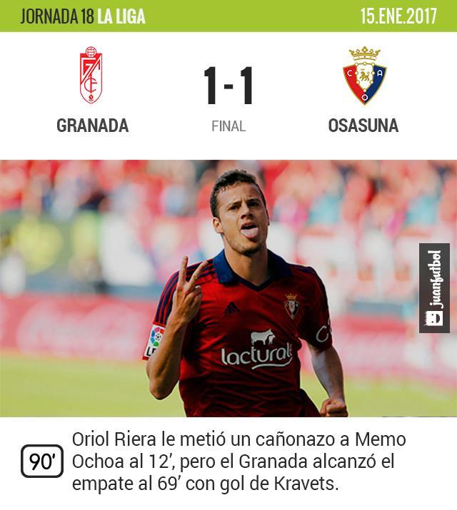 Granada venía de sufrir tres derrotas al hilo.