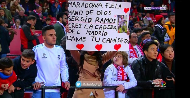 Sergio Ramos sufrió de los insultos de los sevillistas en el juego de la Copa del Rey