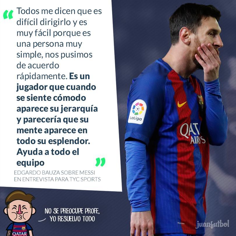 Bauza asegura que es muy fácil dirigir a Messi