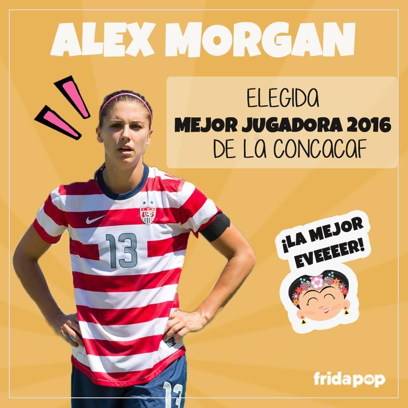 Alex elegida mejor jugadora 2016, por CONCACAF.