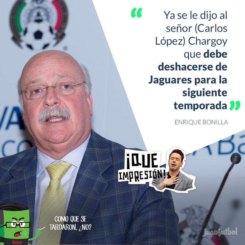 Enrique Bonilla solicitó a López Chargoy vender a Jaguares