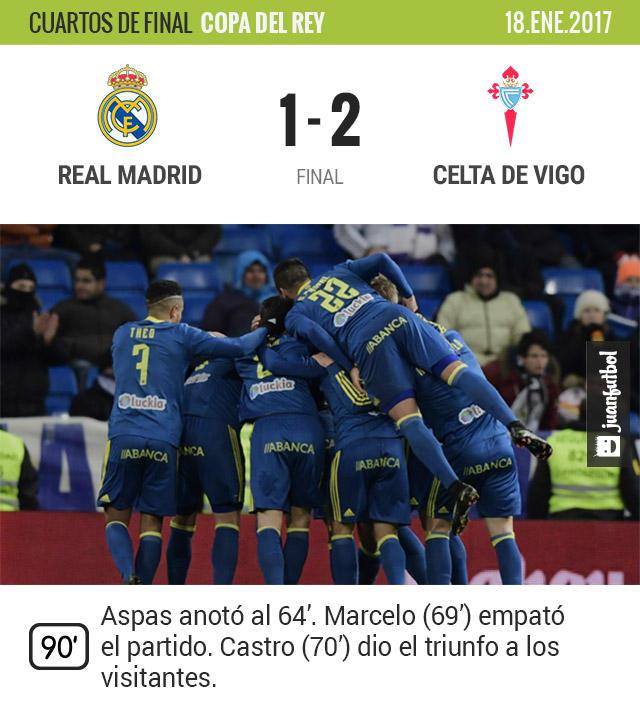 Celta hizo ver su suerte al Real Madrid