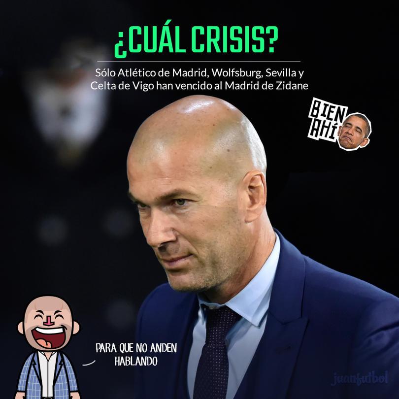 Zinedine Zidane tiene números más que positivos pese a las dos derrotas del Madrid