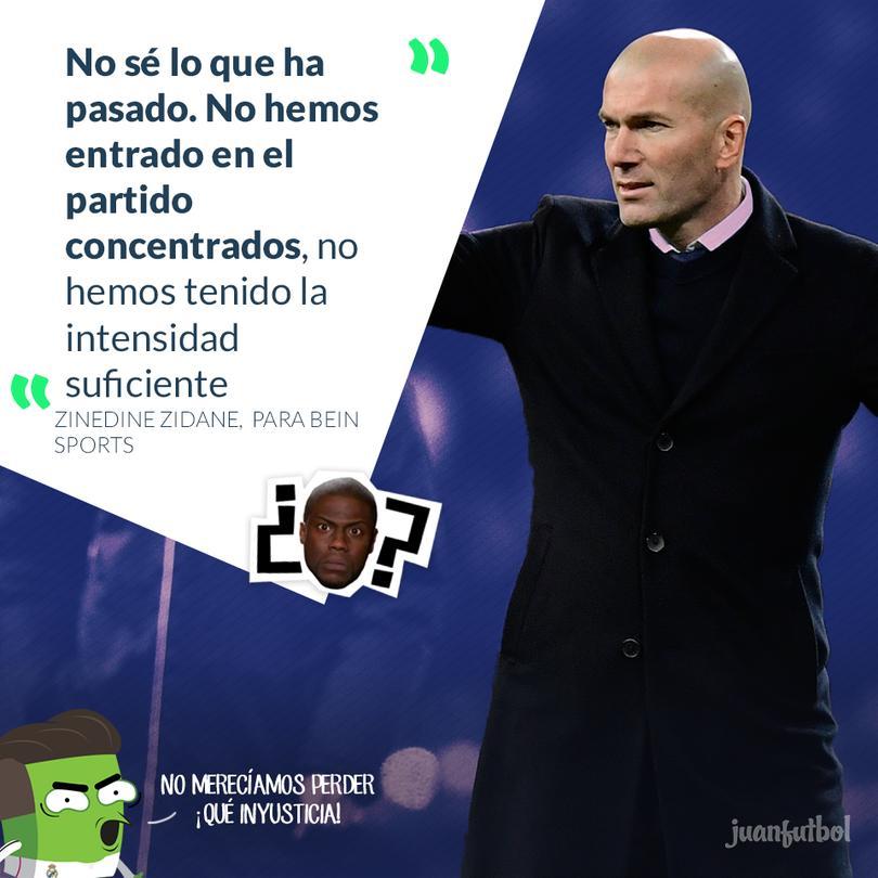 Zidane no le encontró respuesta a lo que pasó en el Santiago Bernabeu