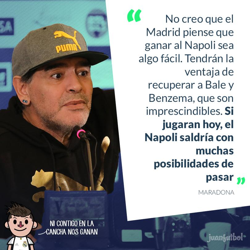 Maradona cree que Napoli le ganaría al Madrid
