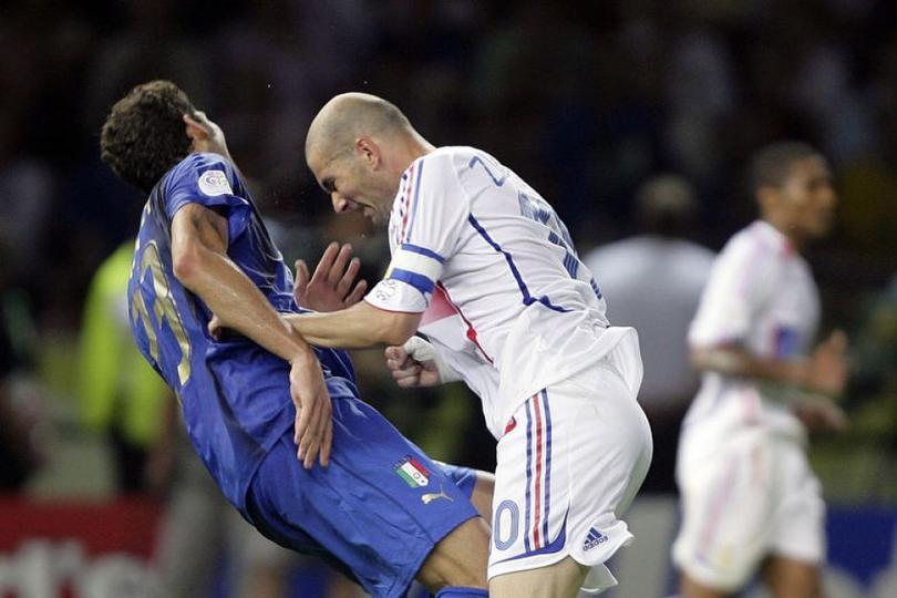 Materazzi y Zidane en las ñeradas del futbol.