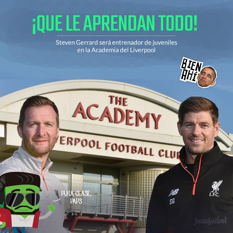 Steven Gerrard volvió a casa para entrenar juveniles