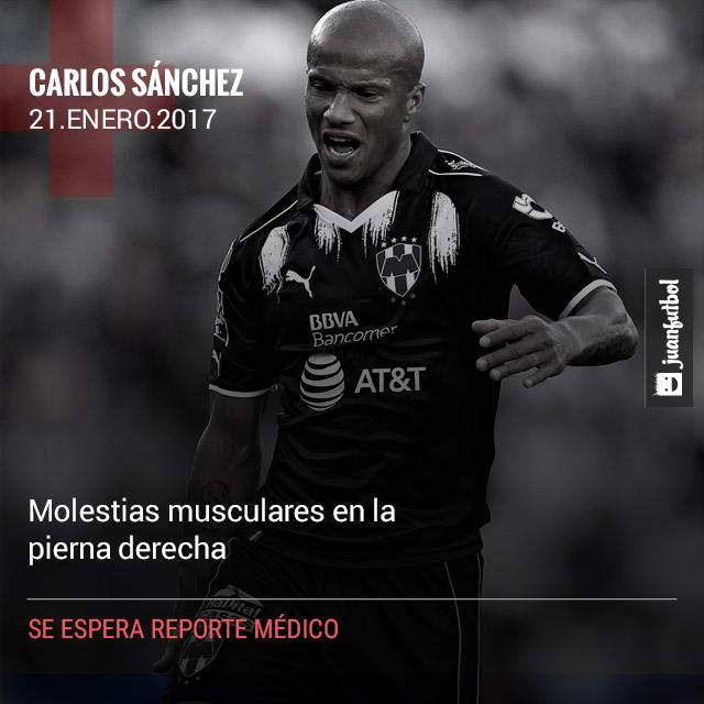Carlos Sánchez anotó y en esa misma acción sufrió una lesión que parece seria