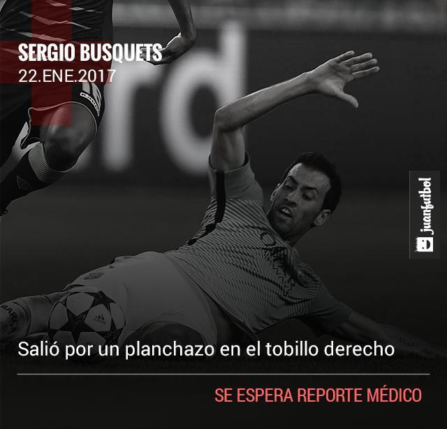 Busquets sale lesionado contra el Eibar