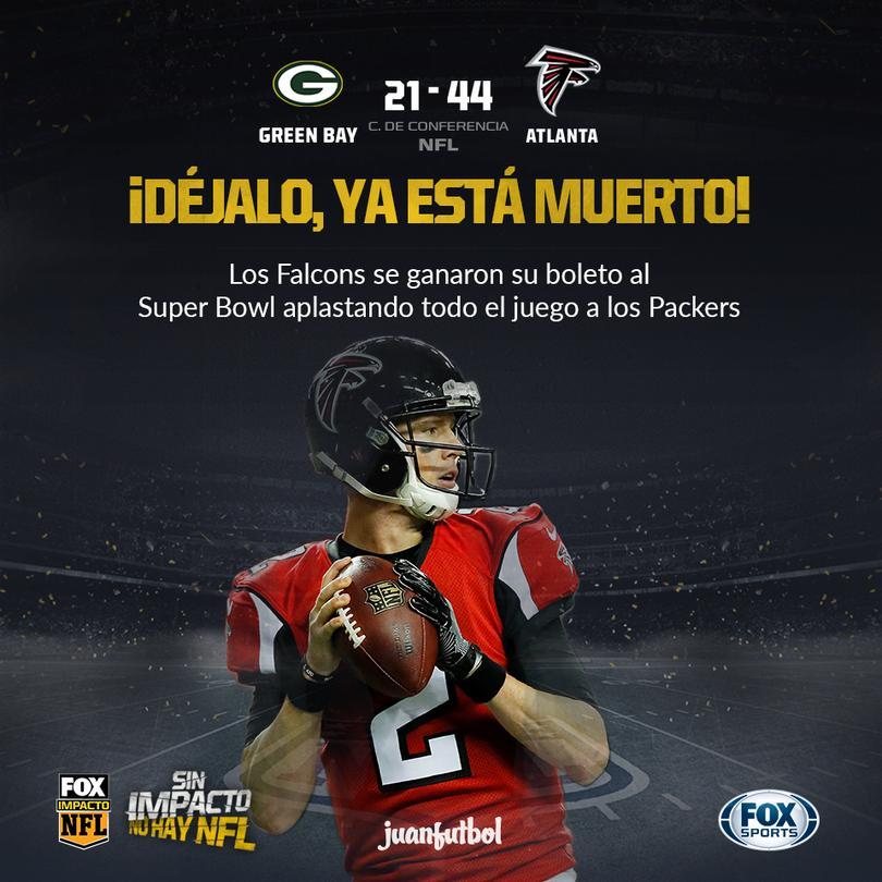 Los Falcons reaparecerán en el Super Bowl desde 1998.