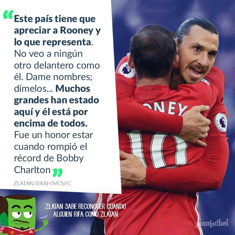 Zlatan se rinde ante Rooney y exige más respeto para el inglés