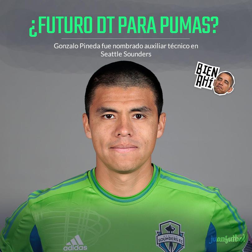 Gonzalo Pineda será auxiliar del Seattle Sounders