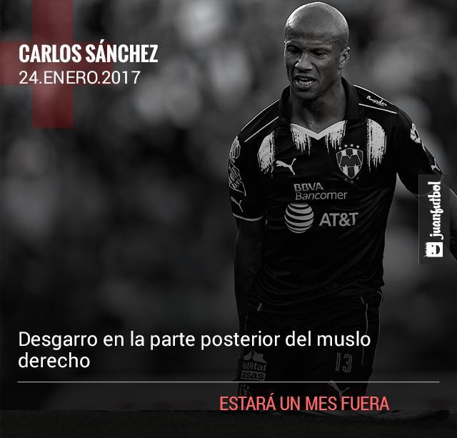 El Pato Sánchez estará fuera un mes
