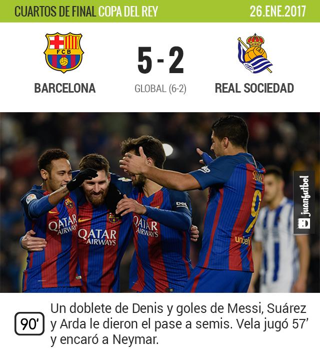 Barcelona golea a la Real de Carlitos