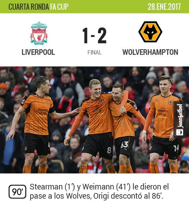 Liverpool queda eliminado de la FA Cup