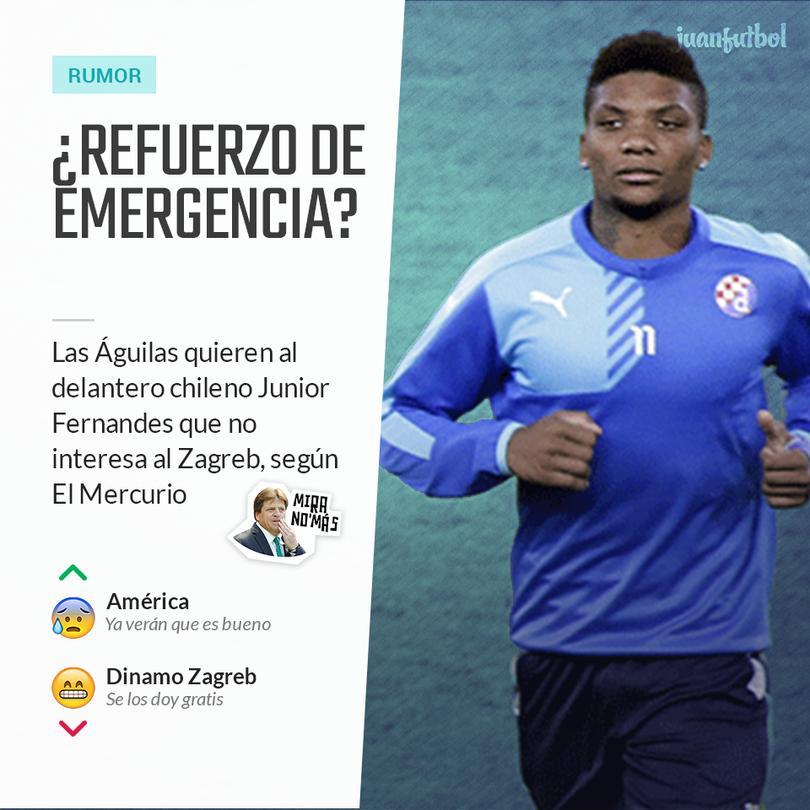 Junior Fernándes suena para el América