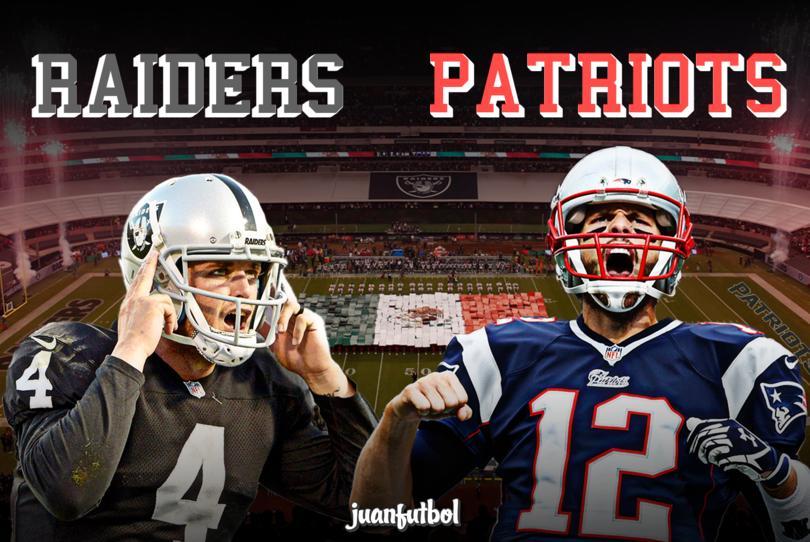 Raiders y Patriots se enfrentarán en el Estadio Azteca
