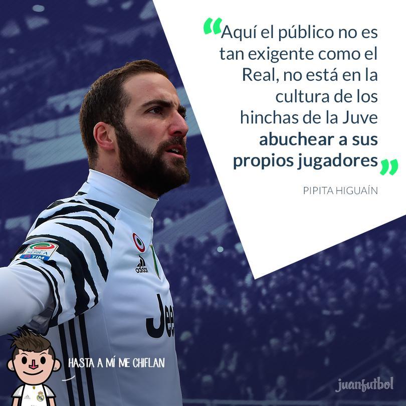 Pipita Higuaín criticó a los hinchas del Madrid