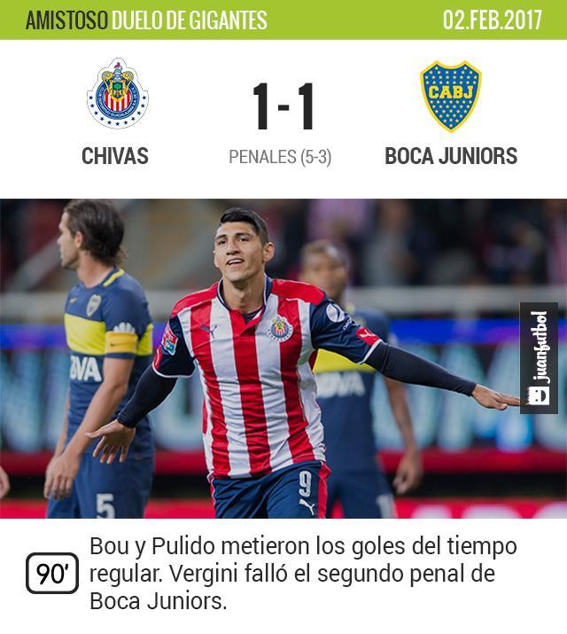 Boca perdió en penales contra Chivas
