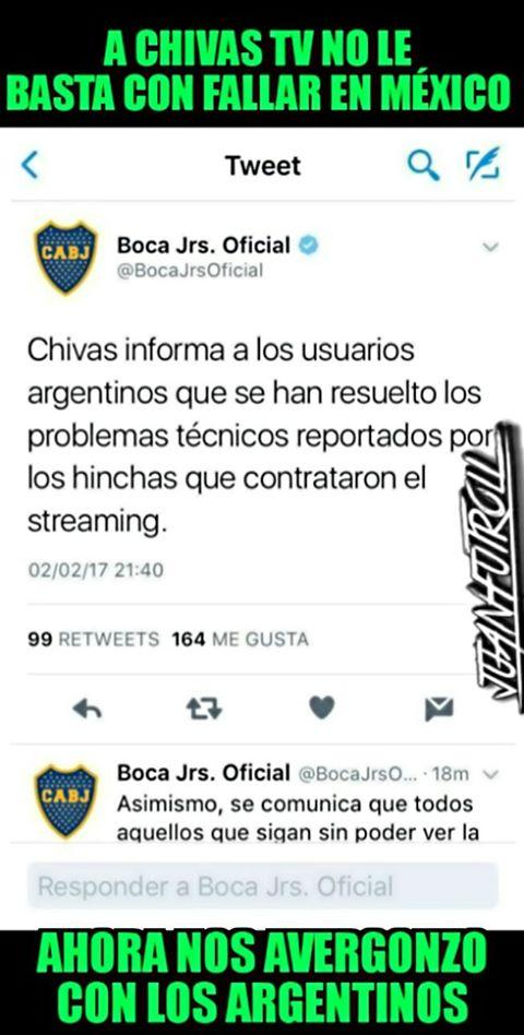 Los memes del Chivas vs. Boca