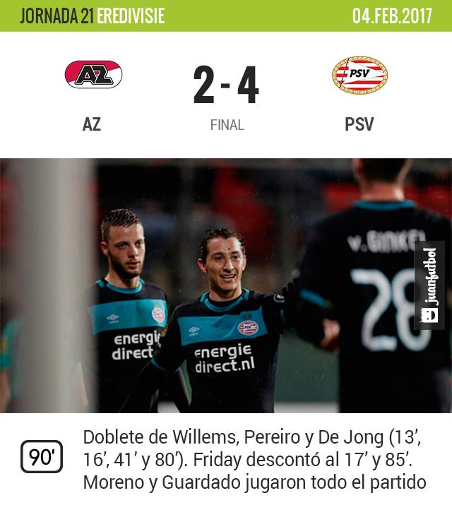 PSV vence al AZ
