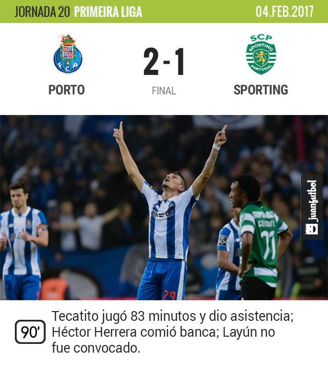 Tecatito Corona hizo su chamba en el triunfo del Porto