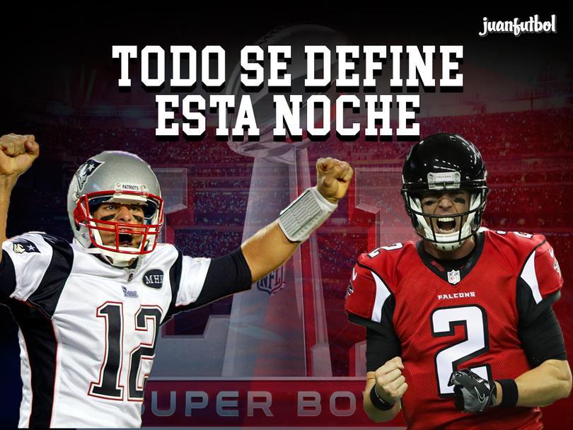 Pats y Falcons definirán esta tarde al campeón de la NFL
