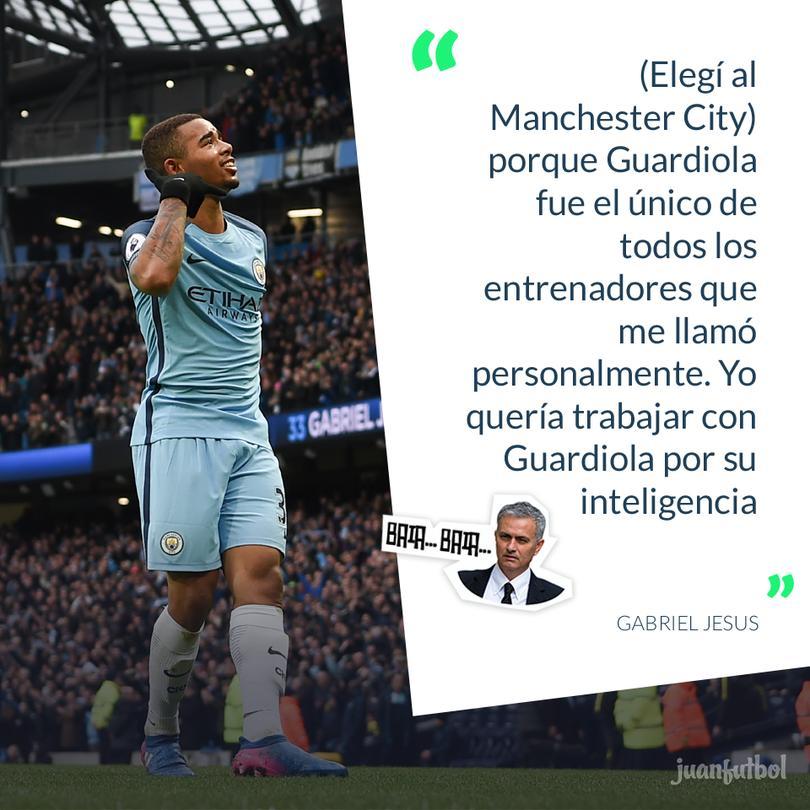 Gabriel Jesus dice la razón por la que firmó con el City