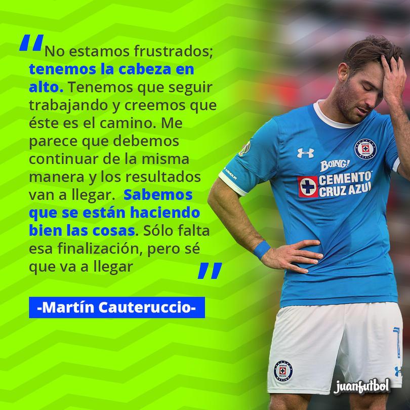 Cauteruccio asegura que Cruz Azul ha jugado bien