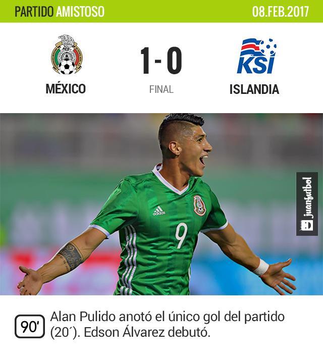 Alan Pulido festeja el único gol del partido