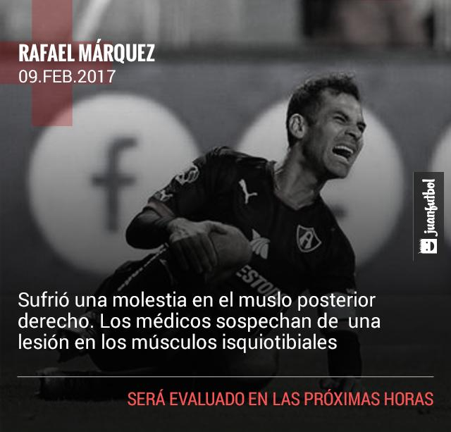 Rafa Márquez se podría perder el clásico tapatío.