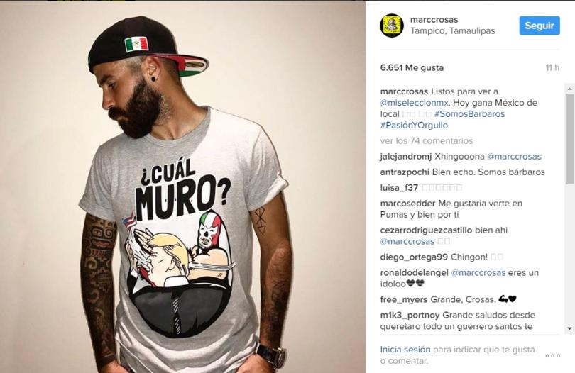 Marc Crosas apoyó a México dentro y fuera de la cancha.