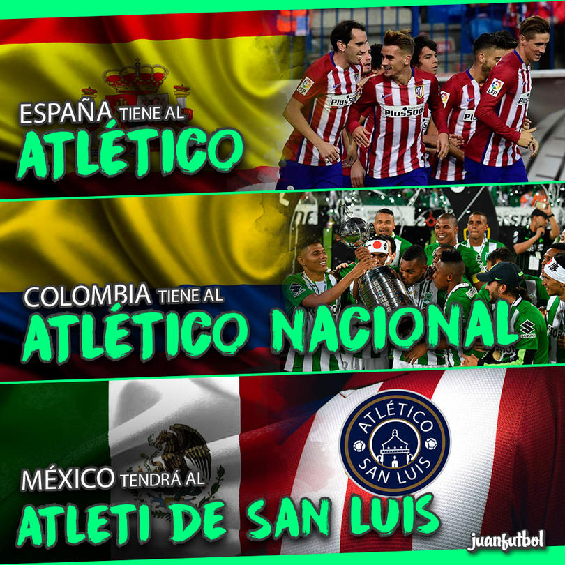 México tendrá al Atleti de San Luis