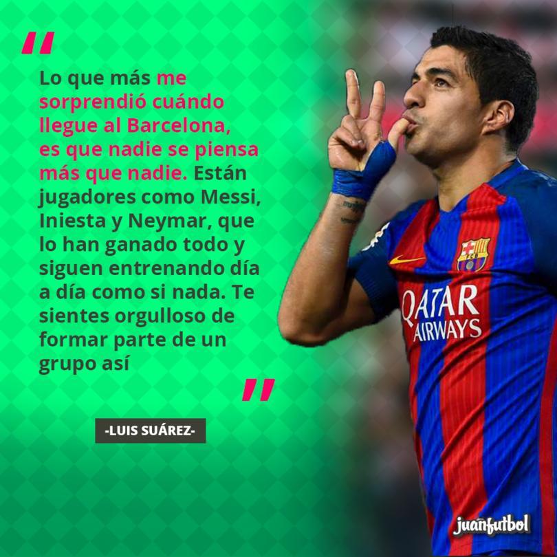 Luis Suárez habló de su llegada al Barcelona
