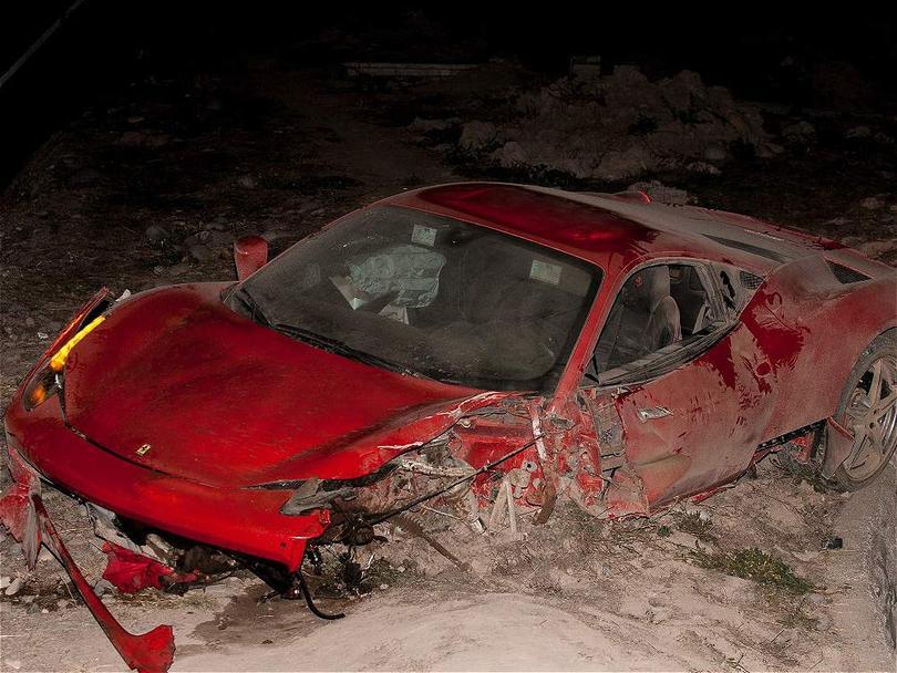 El Ferrari de Arturo Vidal fue perdida total