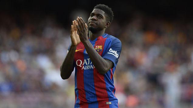 El Barcelona jugará por primera vez en la temporada con una defensa de tres franceses y un español en línea de cuatro.