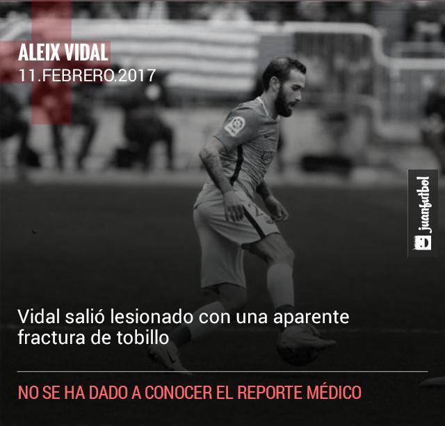 Aleix Vidal salió lesionado