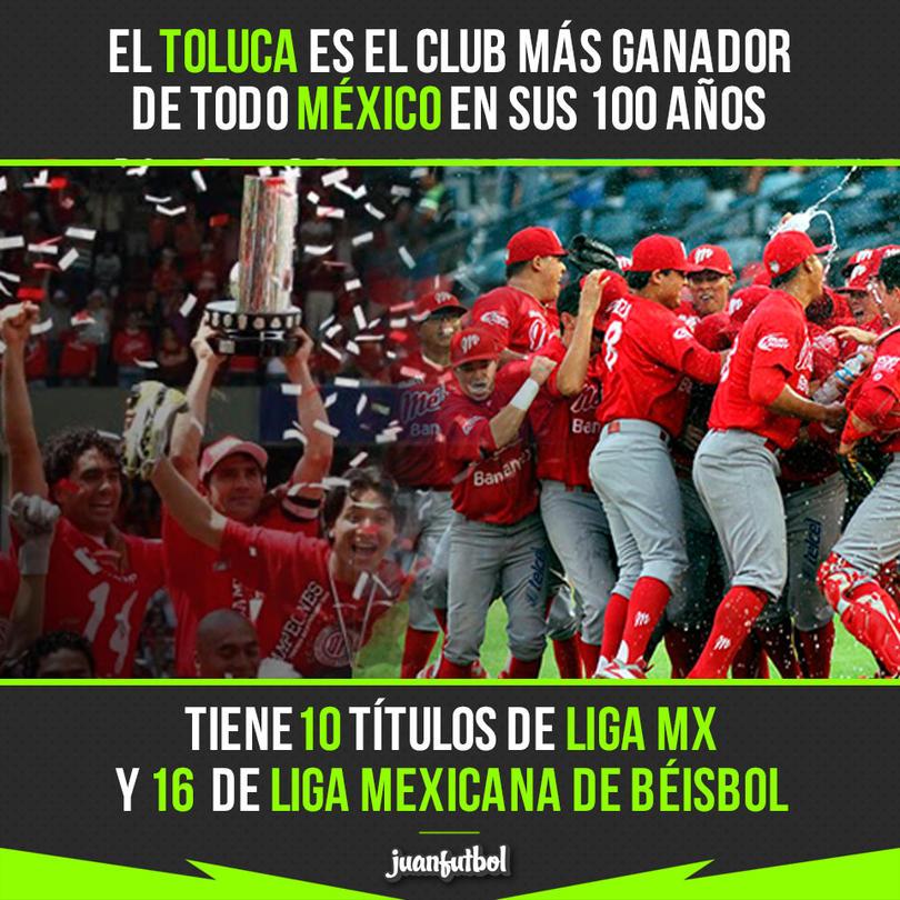 Toluca no nada más tiene títulos de Liga MX, también de LMB