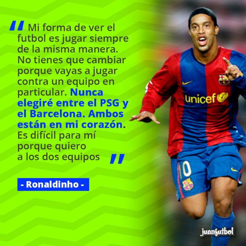 Dinho dijo que no puede elegir entre el Barcelona y el PSG.