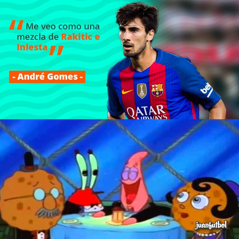JAJAJAJA buen futbolista, mejor comediante: André Gomes