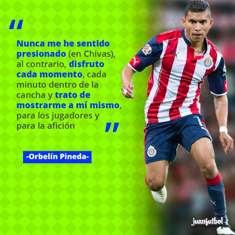 Orbelín Pineda disfruta cada momento jugando en Chivas
