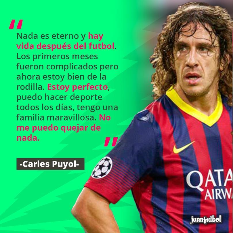 Carles Puyol, ex jugador del Barcelona