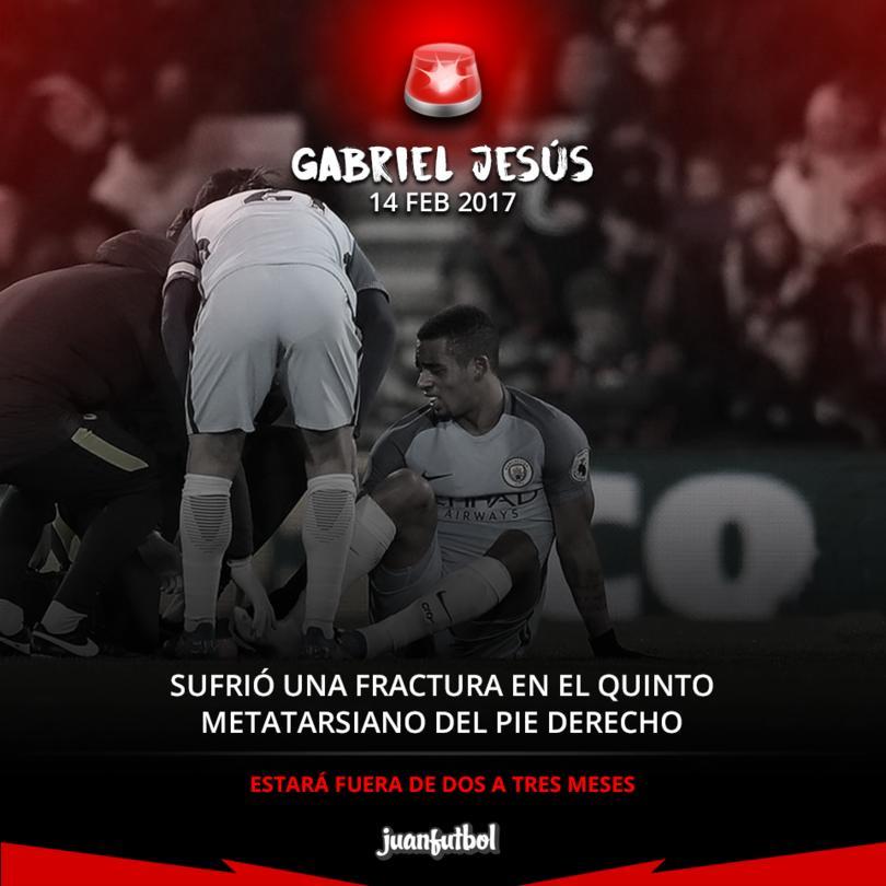Gabriel Jesús lesionado