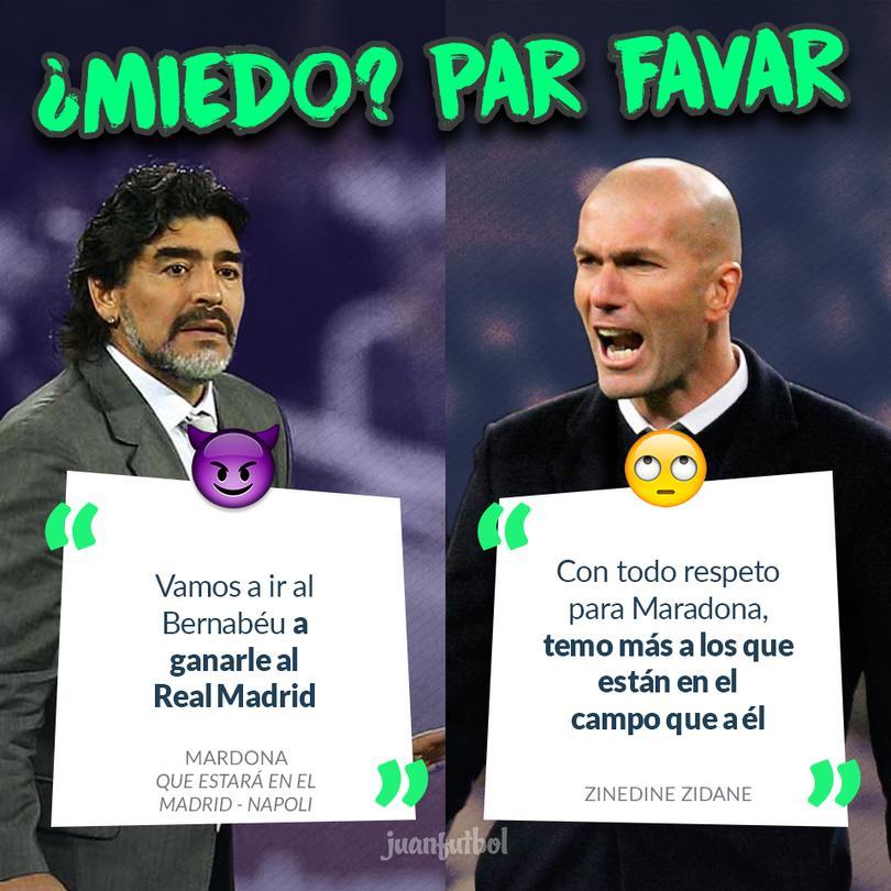 Zidane no le tiene miedo a Maradona