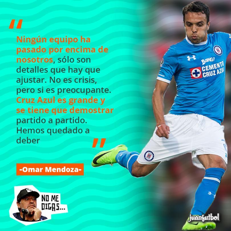 Omar Mendoza dijo que Cruz Azul no está en crisis