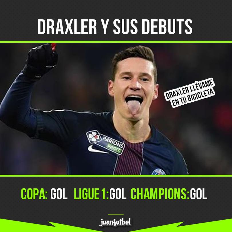 Draxler y sus debuts en Champions.