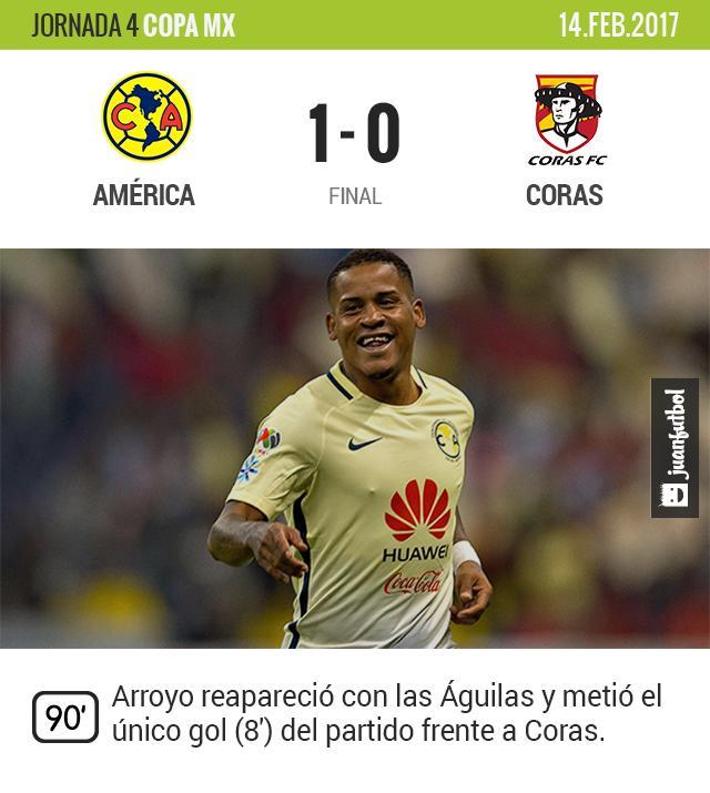 Michael Arroyo reapareció en la Copa MX