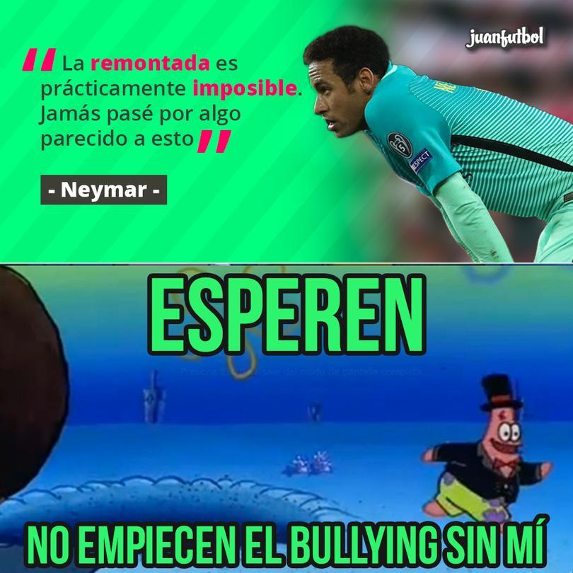 Ni cómo ayudarte, Neymar. Vaya que parece imposible remontar