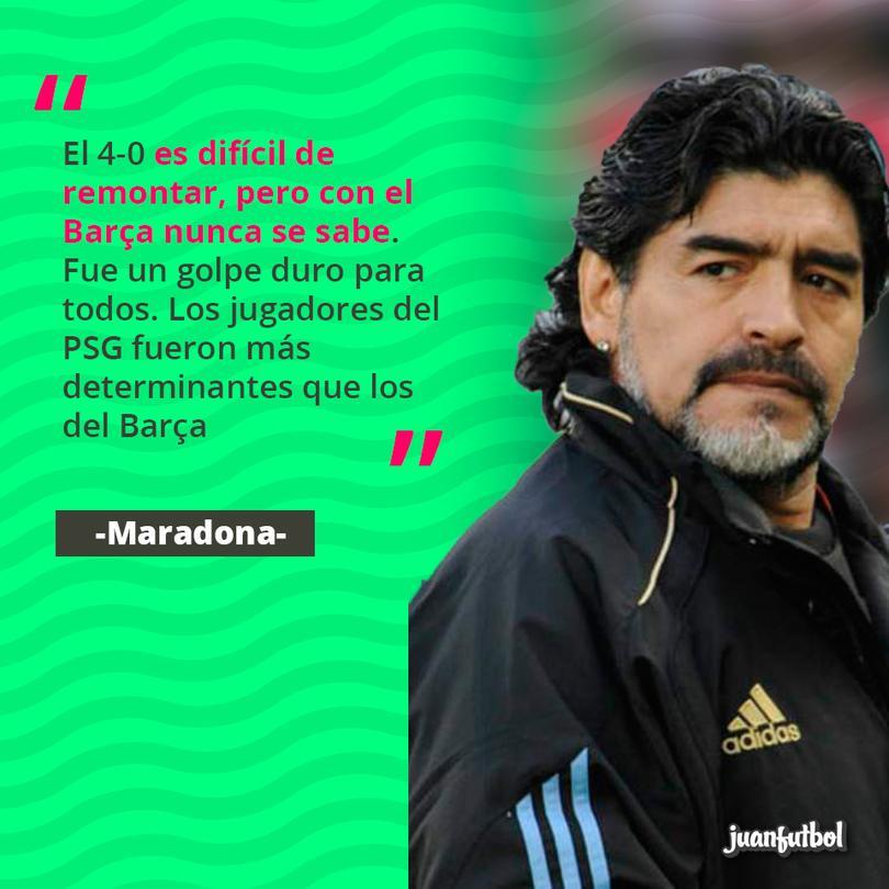 Maradona habló de la derrota del Barcelona